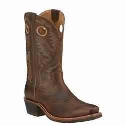"""Ariat 10002227 Heritage Roughstock 12"""" Pull On Square Toe We"""