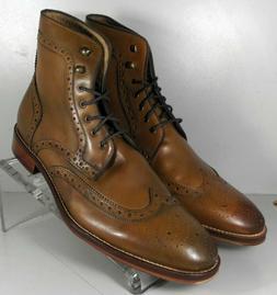 202232 DTBT50 Men's Shoes Size 10.5 M Dark Tan Leather Boots