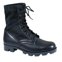 """Rothco 5081 Black Leather Military G.I. Style 8"""" Jungle Boot"""