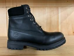 "TIMBERLAND 6 INCH 6"" PREMIUM LEATHER BOOTS BLACK BOOT MENS S"