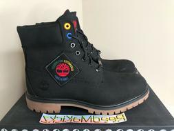 Timberland 6 inch Premium Black Waterproof Boots Patch Nubuc
