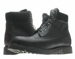 Timberland 6-Inch Premium Waterproof Black Leather Men's Boo
