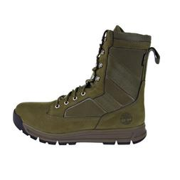 Timberland 8 Inch Men's Field Guide Boots Dark Olive Nubuck