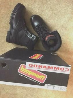 Thorogood 8 inch military black leather/fabric men commando