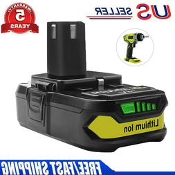For RYOBI ONE+ P102 18 VOLT LITHIUM ION REPLACEMENT BATTERY