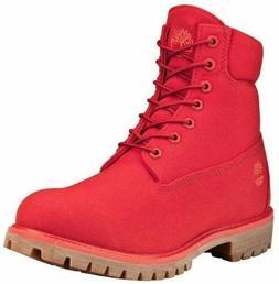 "{A1UA5} TIMBERLAND MEN'S 6"" PREMIUM THREAD CANVAS BOOT RED *"