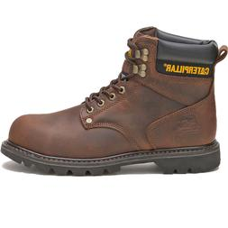 Caterpillar Boots Men's Second Shift Leather Steel-Toe Work