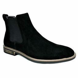 BRUNO MARC Men's Suede Leather Chukka Slip On Dress Chelsea