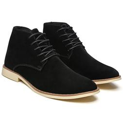 Fashion High Top Casual Shoes Outdoor Leather <font><b>Mens<