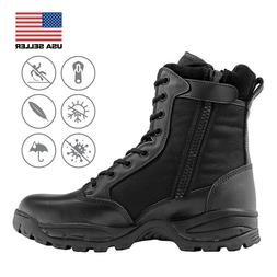 FINAL SALE Men's 8'' Black Waterproof Insulated Boots with S