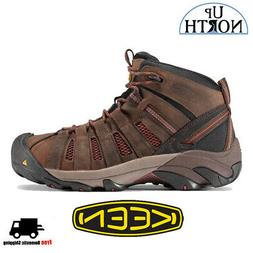 Keen Flint 1007972 Mens Mid Steel Toe Work Shoes Black/ Burn
