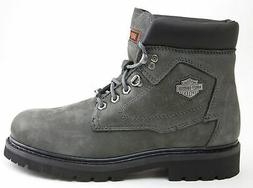 Harley-Davidson Bayport Grey Leather Motorcycle Casual Boot