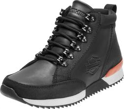 Harley-Davidson® Mens Harlen Black Leather Motorcycle Ridin