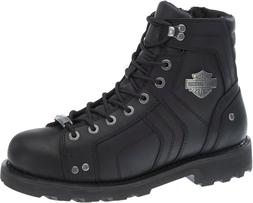 Harley-Davidson Mens Mandrake Black Leather Motorcycle Boots