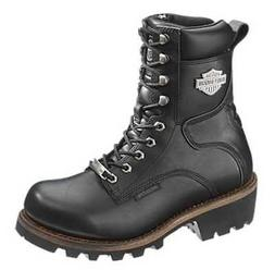 Harley-Davidson Women's Tyson 7-Inch Black Leather Motorcycl