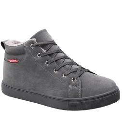 High Top Casual Shoes Outdoor Leather <font><b>Mens</b></fon