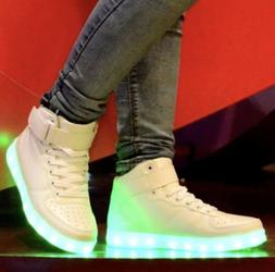HIGH TOP Led Light Up Shoes Unisex Men and Women Sizes Avail