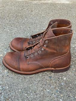 """Red Wing 6"""" Iron Ranger Mens 8085 Copper Rough & Tough Leath"""