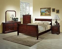 Roundhill Furniture Isola 5-Piece Louis Philippe Style Sleig