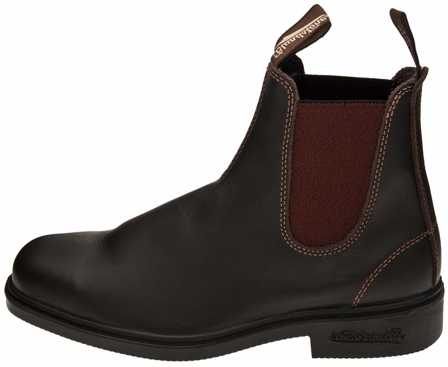 Blundstone 500 Men's Pull On Boots Stout Brown Leather Size