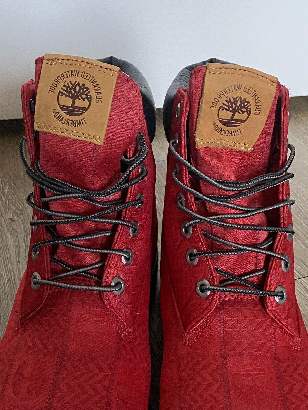 Timberland Red Logo All Over Boots 11