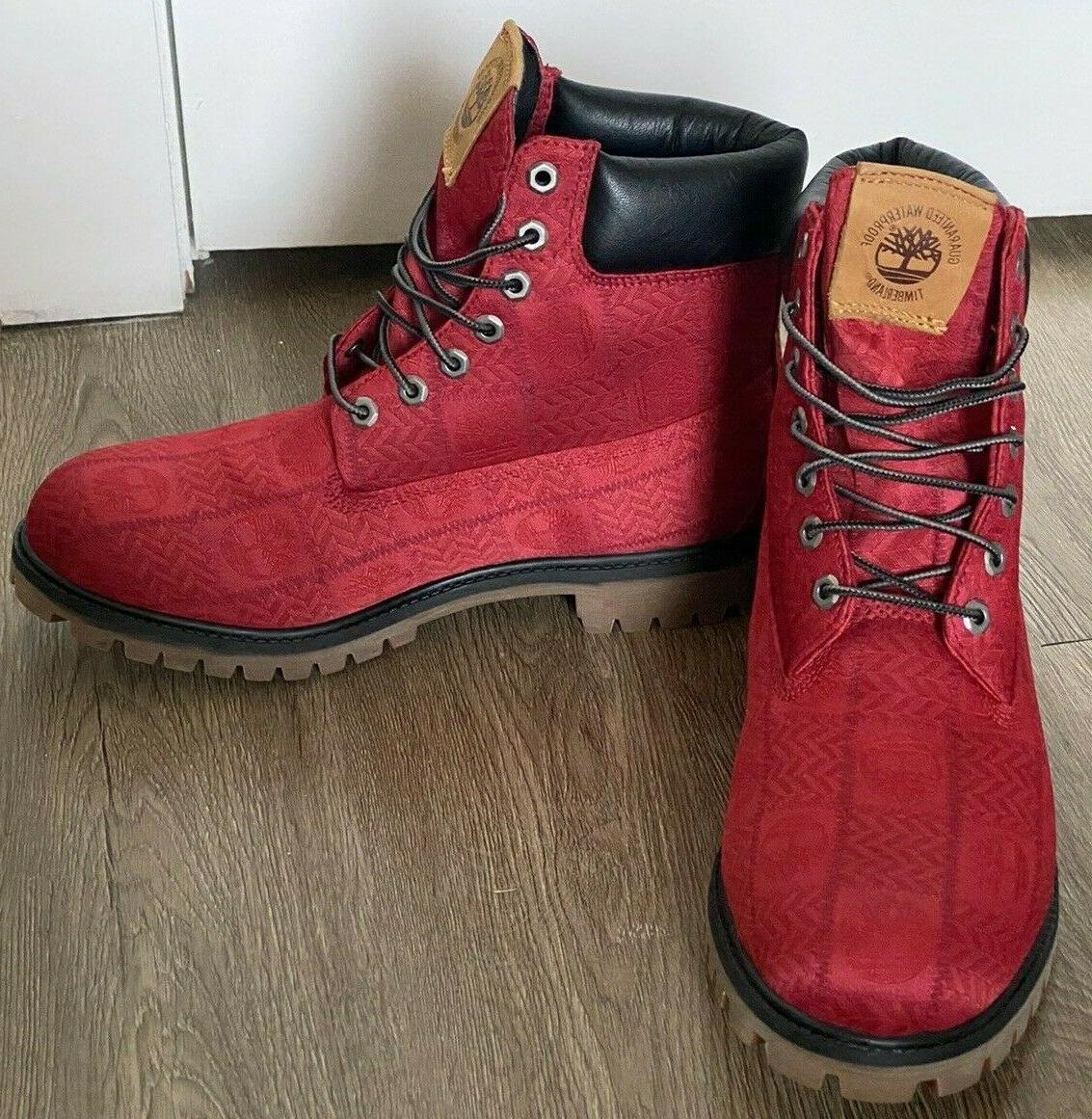 Timberland Red Logo Boots