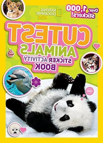 National Geographic Kids Cutest Animals Sticker Activity Boo