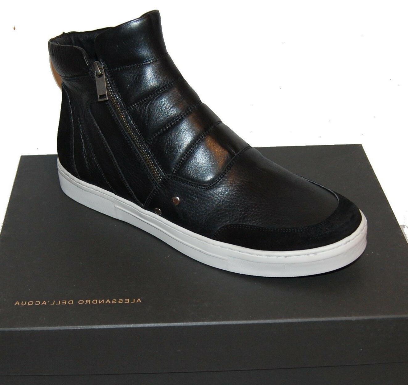Alessandro DellAcqua Rouge Leather Sneakers 8.5 in 2020