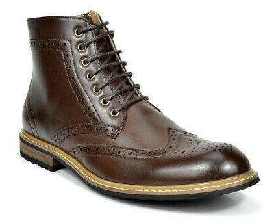 Bruno Marc BERGEN-01 Men Casual Laced Wing-Tip Chelsea Oxfor