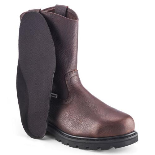 Brown Men's Safety Toe Waterproof On Shoes