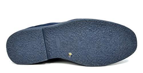 Bruno Marc Men's Chukka Navy Desert Oxford Ankle Boots - M US