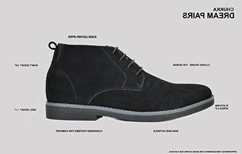 Bruno Marc Men's Navy Suede Leather Chukka Desert Boots - 8.5 M