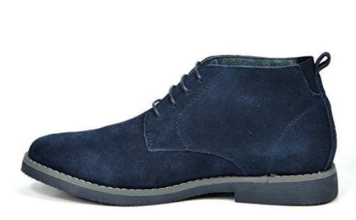 Bruno Navy Suede Leather Chukka Desert -