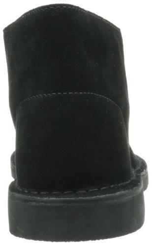 Clarks Men's Bushacre Boot,Black Suede,9.5
