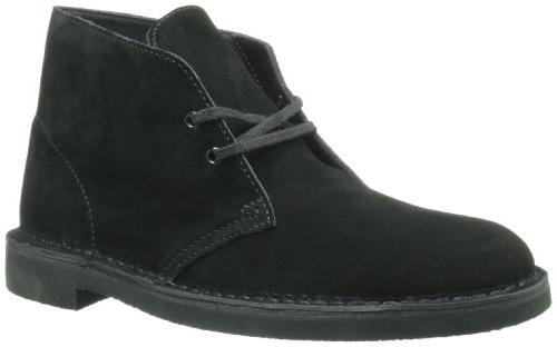 Clarks 2 Boot,Black Suede,9.5 M