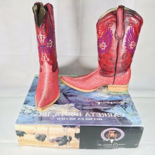 carreta boots mens size 8 us 27
