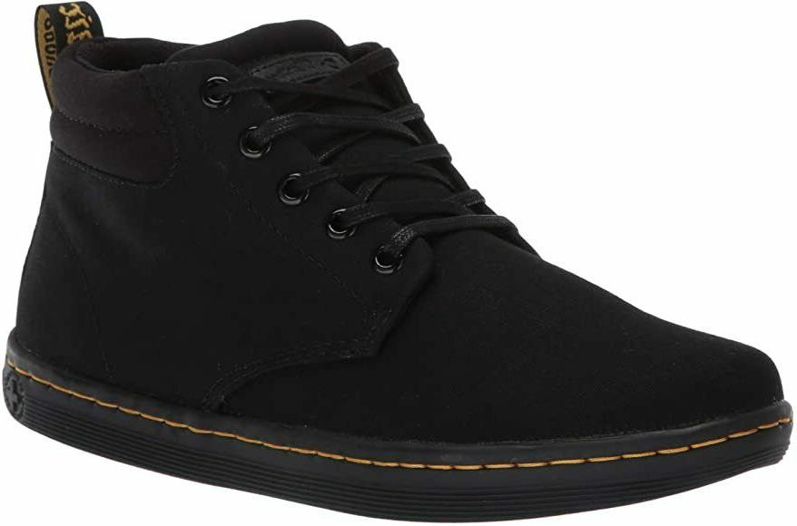 Dr. Martens Maleke Black Black Mens Canvas Boots Size 7 - 12