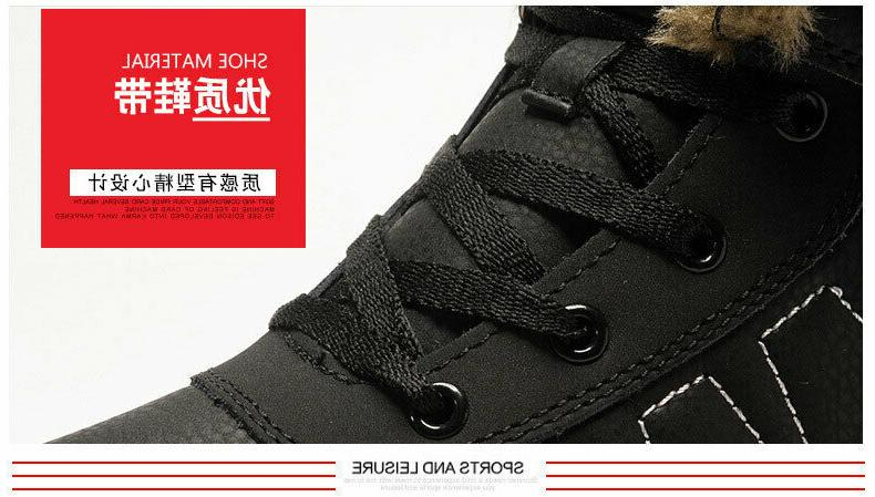Fashion Lace Up Lined Anti-Slip Comfort Boots