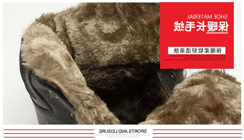 Fashion Men's Boots Lace Comfort Shoes Winter Boots