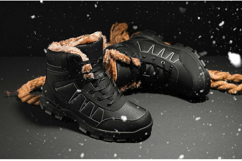 fashion men s snow boots lace up