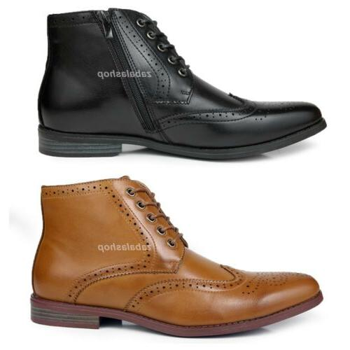 fashion mens oxfords wingtip ankle boots dress
