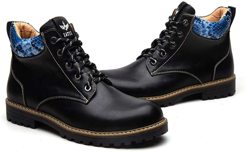 Jitai British Men Boots Autumn Winter Shoes Men Fashion Chuk