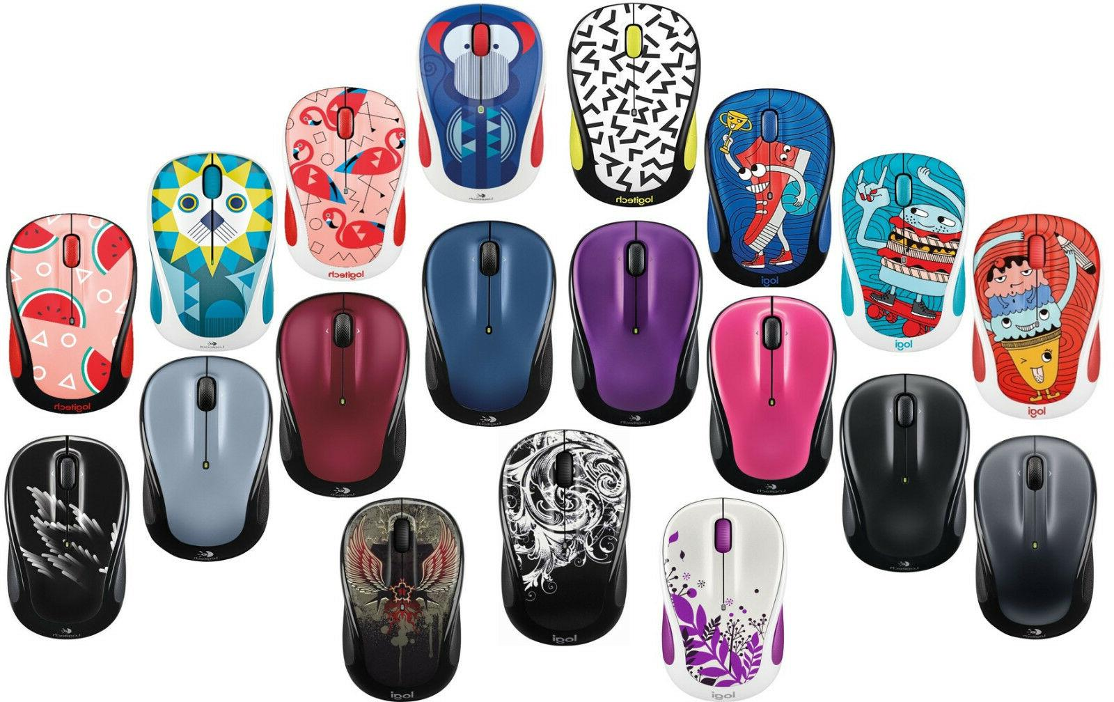 Logitech M325 and M325c Wireless Mouse in Multi-colors