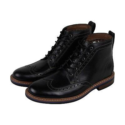 Bostonian Melshire Rise Mens Black Leather Casual Dress Boot