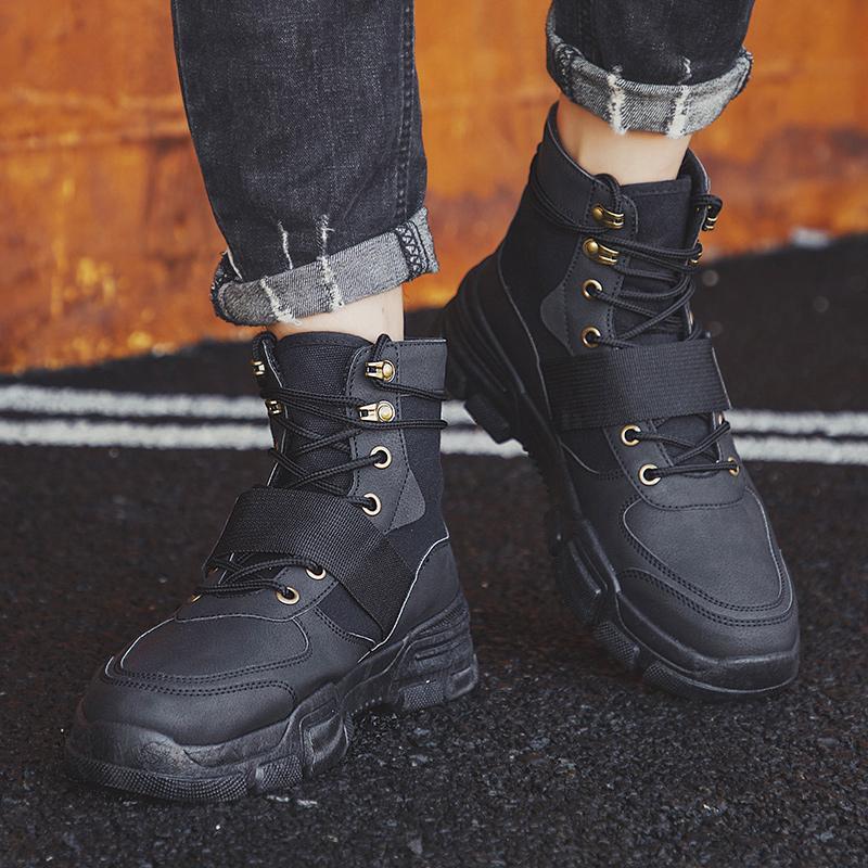 Men Military Winter <font><b>Leather</b></font> Force Desert Men Army Footwear Big