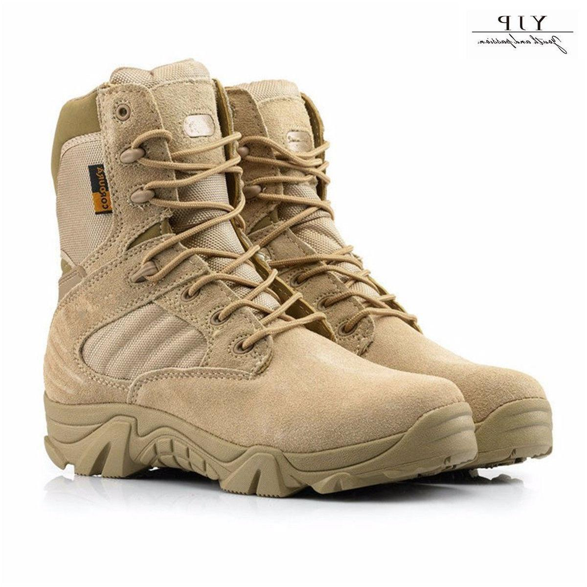 JYP Men Outdoor Combat Army Boots Tactical Military Ankle Hi