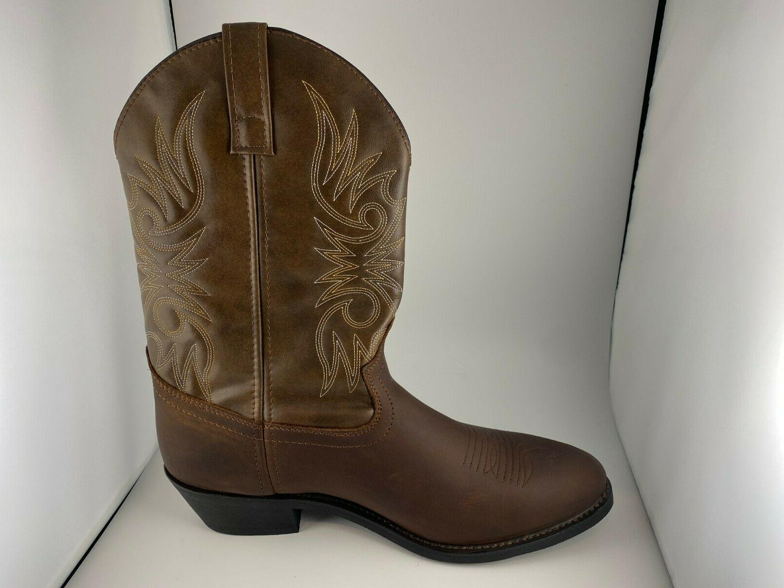 Men's 12-Inch Brown - Size Wide