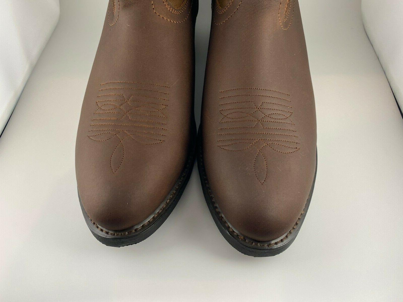 Men's Western Brown Size Wide