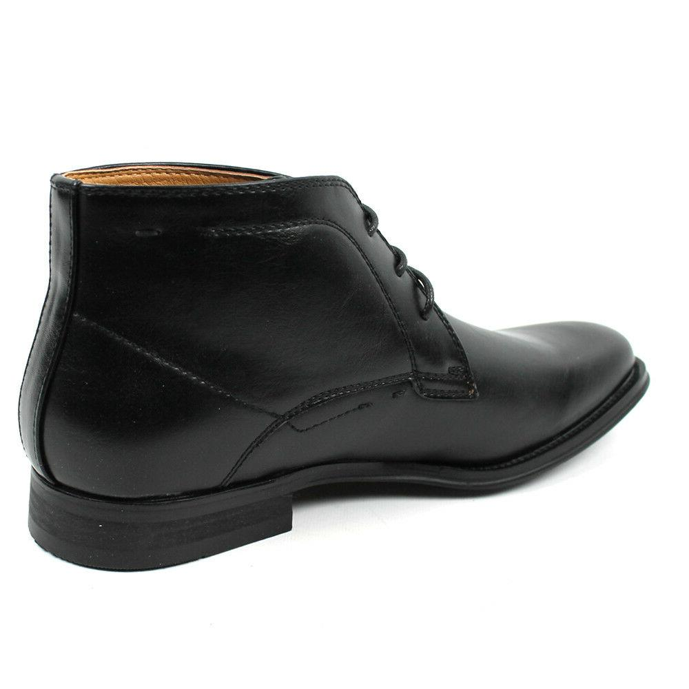 Men's Ankle Round Leather Luciano Shoes D513