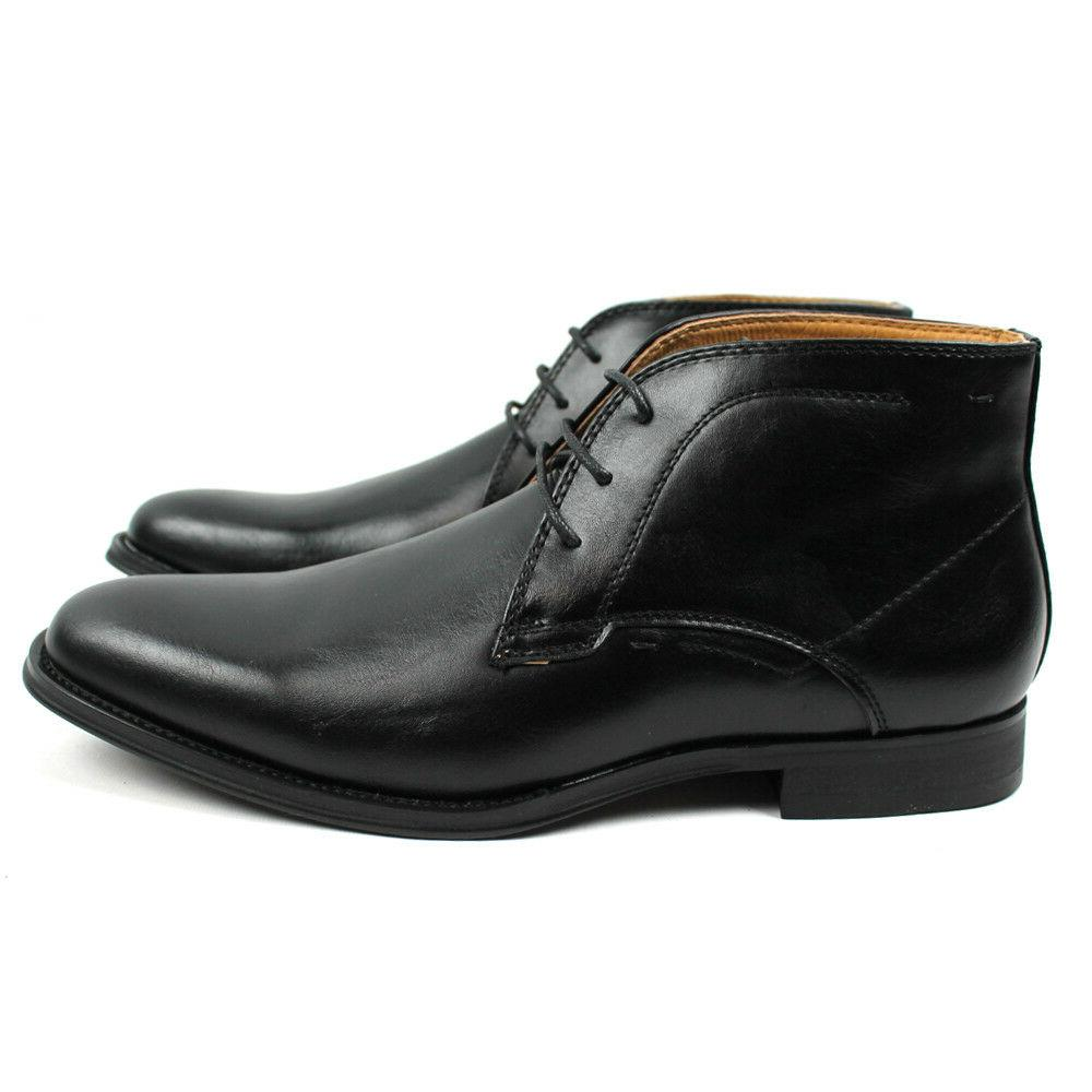 Men's Ankle Round Toe Leather Luciano Santino D513